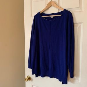 Croft and Barrow Blue Tunic Sweater-- Size 1X